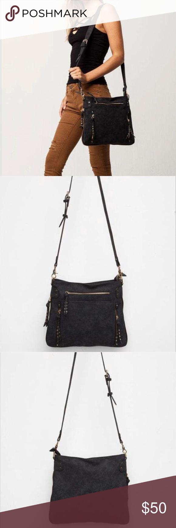 79bca450d8b1 Free People Randi Studded Crossbody Bag Free People line Violet Ray Randi faux  leather crossbody bag