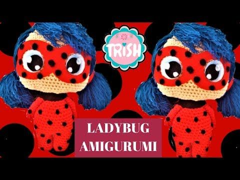 SUBTITULOS ESPANOL ENGLISH Tutorial Amigurumi Ladybug Crochet ... | 360x480