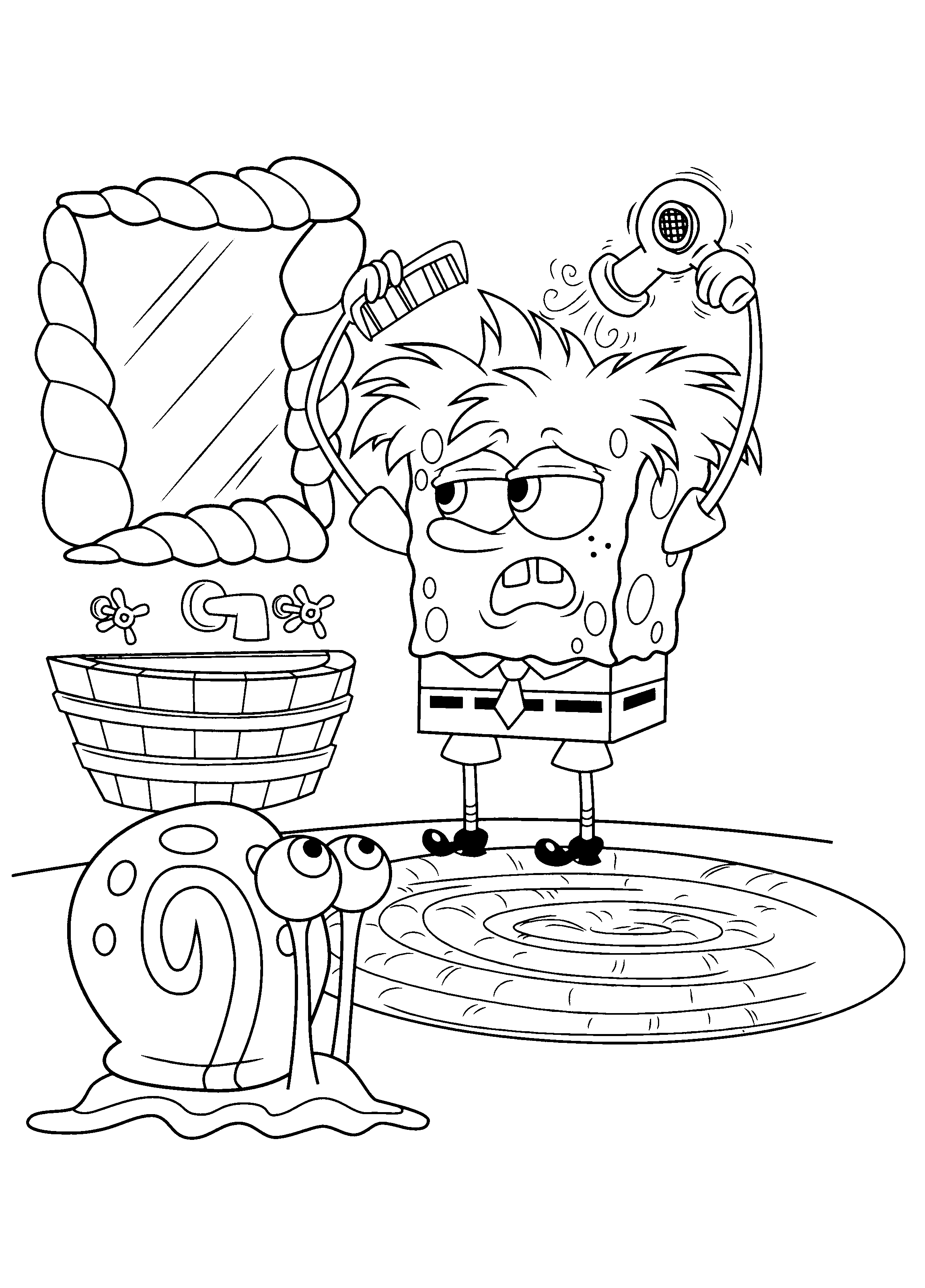 Spongebob Squarepants 04 09 Png 2300 3200 Cartoon Coloring Pages Spongebob Painting Coloring Books