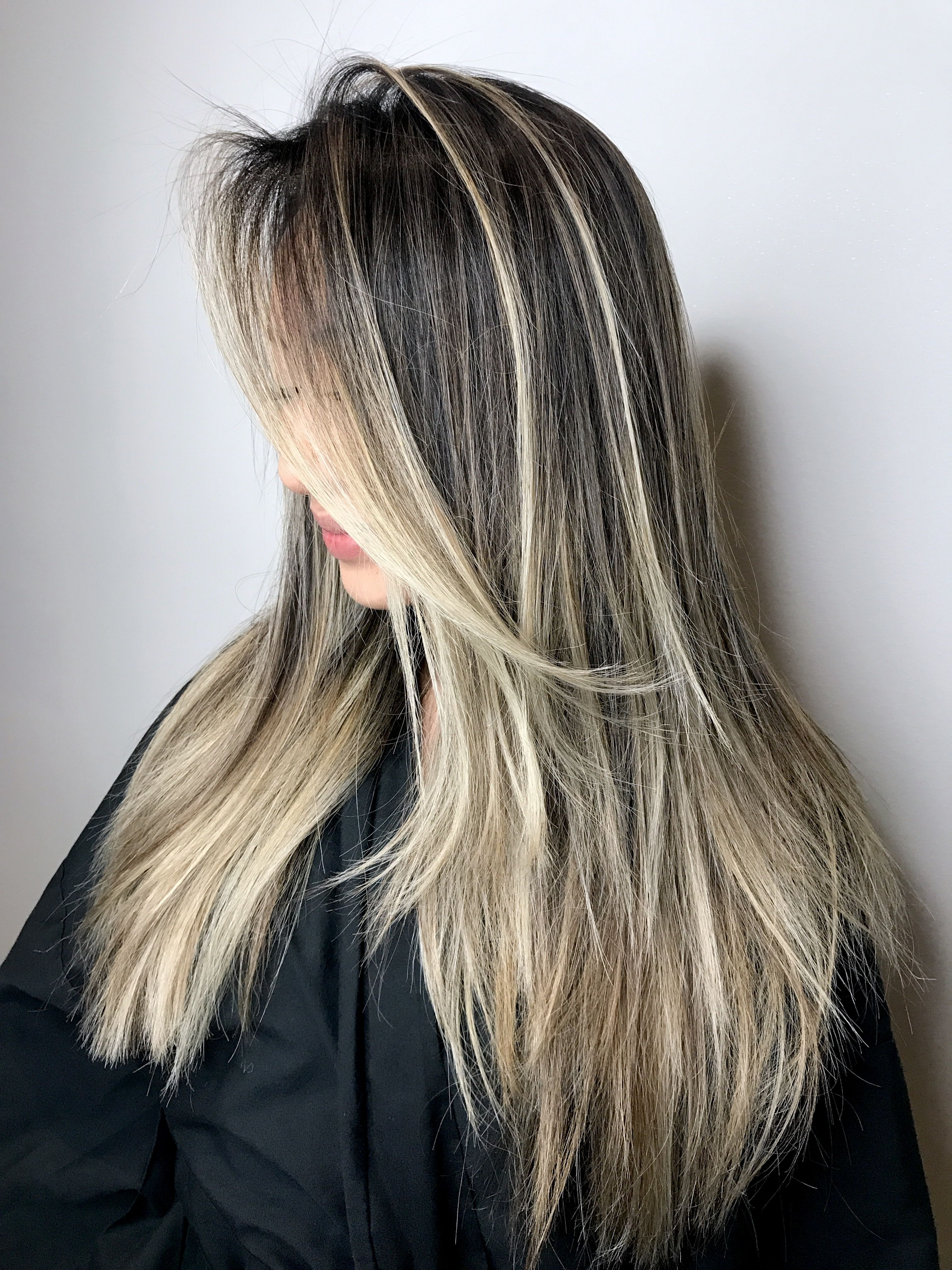 Asian blonde hair, balayage for dark hair, blonde, texture