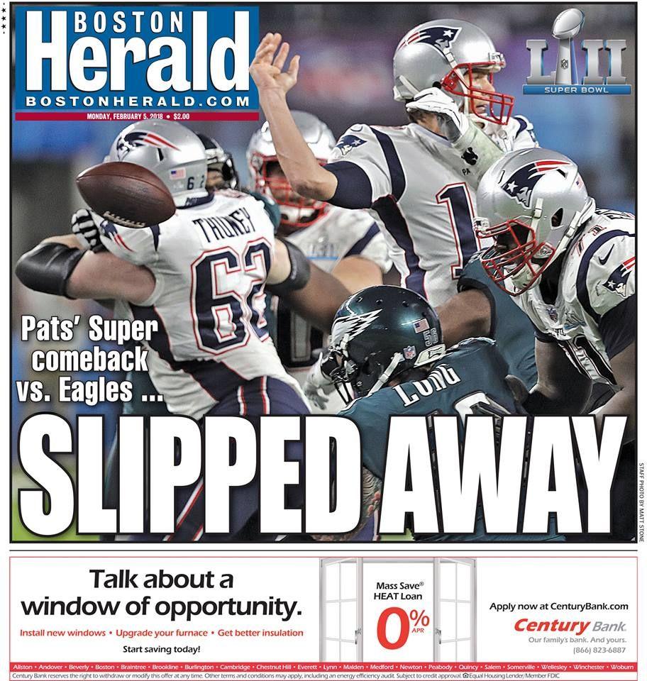 Today S Page One Patriots Twelve Days Patriots Football