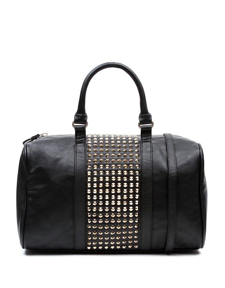 3e557a5fd Bolso con tachuelas color negro | BOLSOS | Color negra, Negro y Color