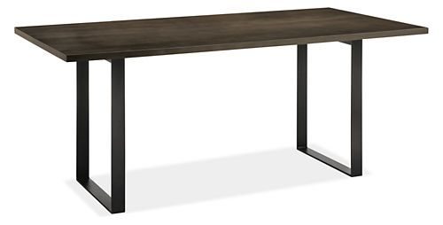 Maple With Charcoal Stain Forge Tables Tables Dining