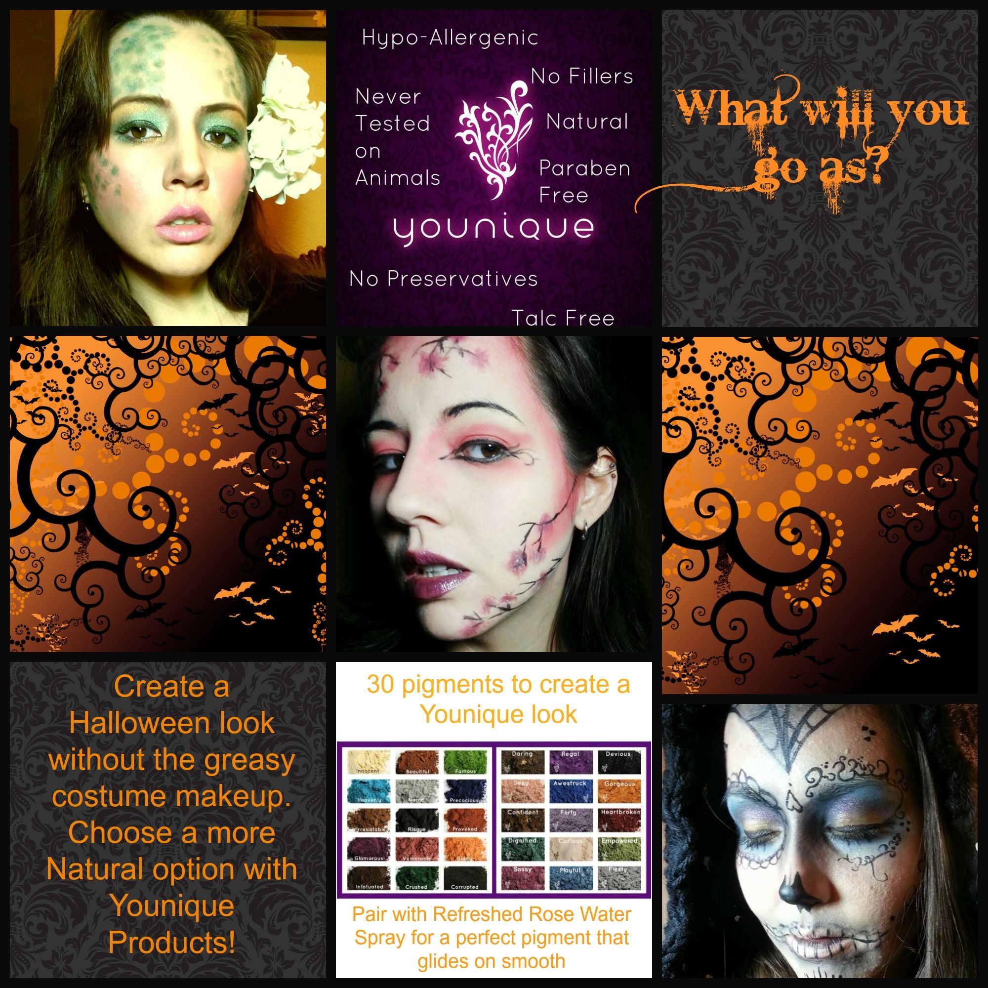 Halloween makeup using Younique Products. #halloween ...