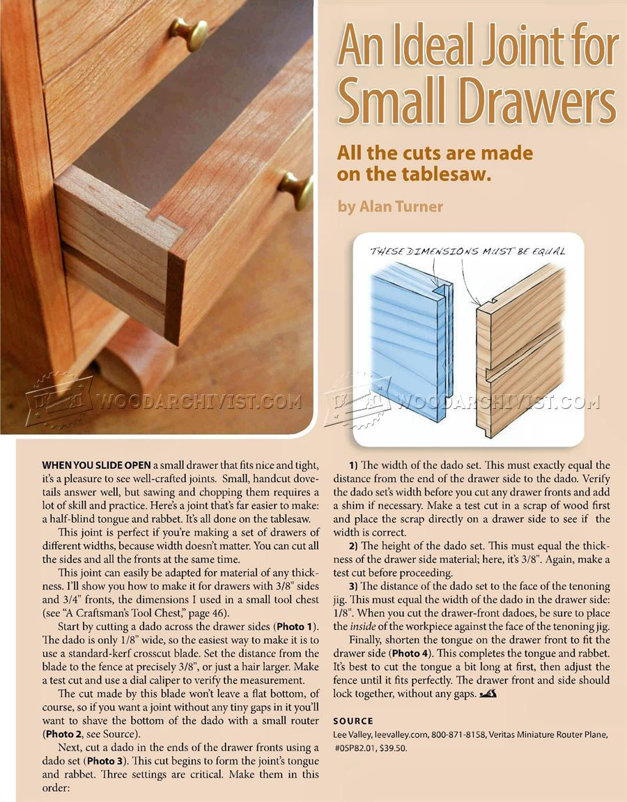 Delightful #1502 Drawer Joints   Drawer Construction Techniques
