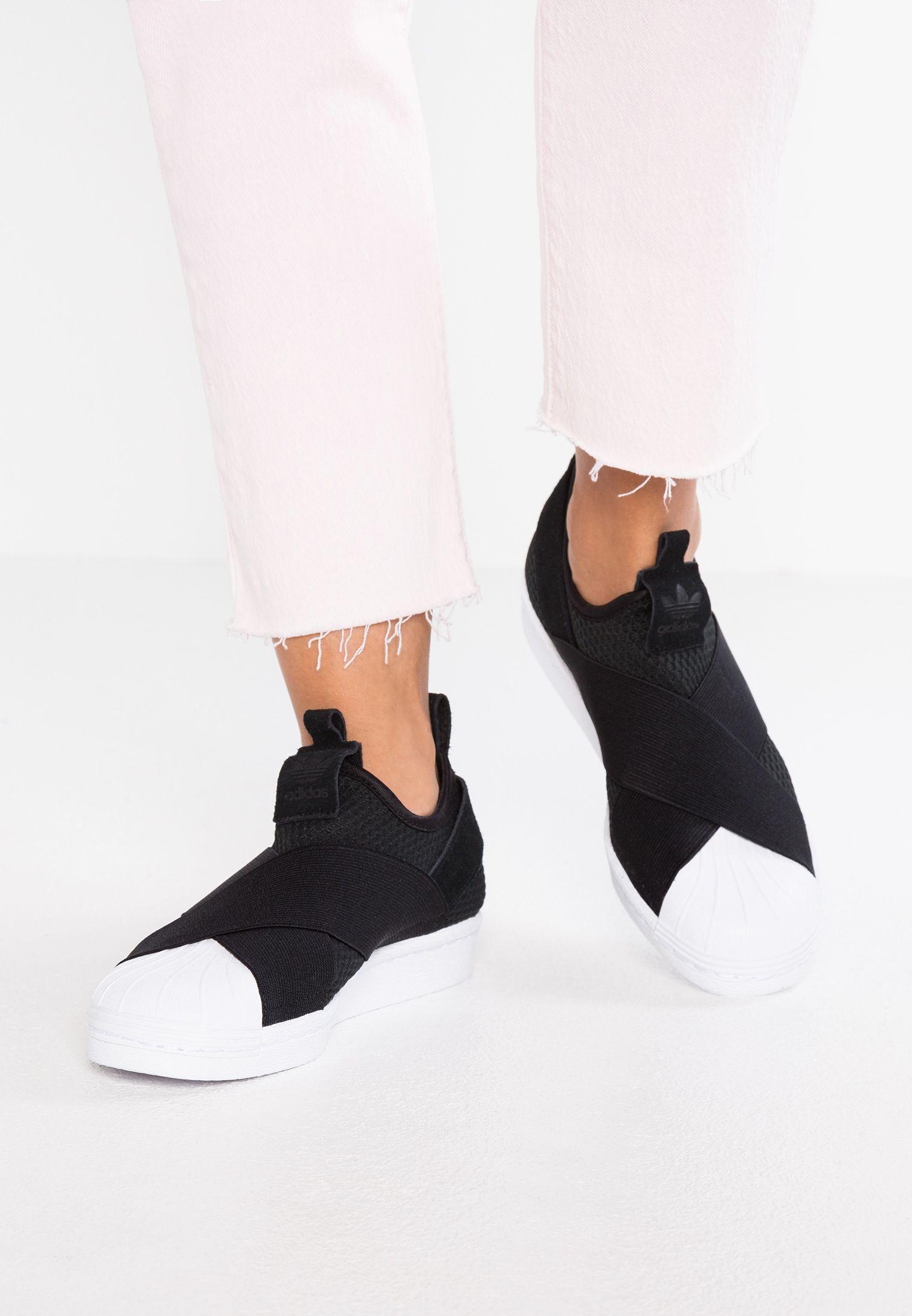 adidas superstar slip on black zalando