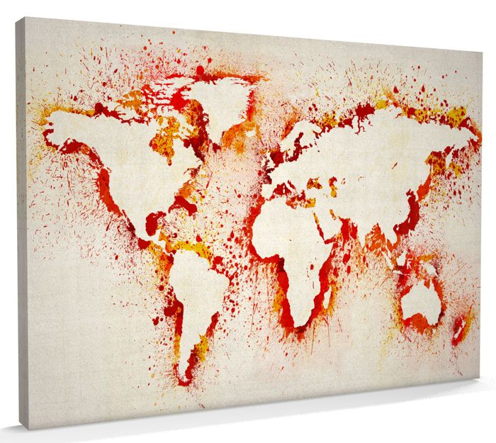 Map of the world map abstract painting canvas art a3 to a1 v183 map of the world map abstract painting canvas art a3 to a1 v183 gumiabroncs Gallery