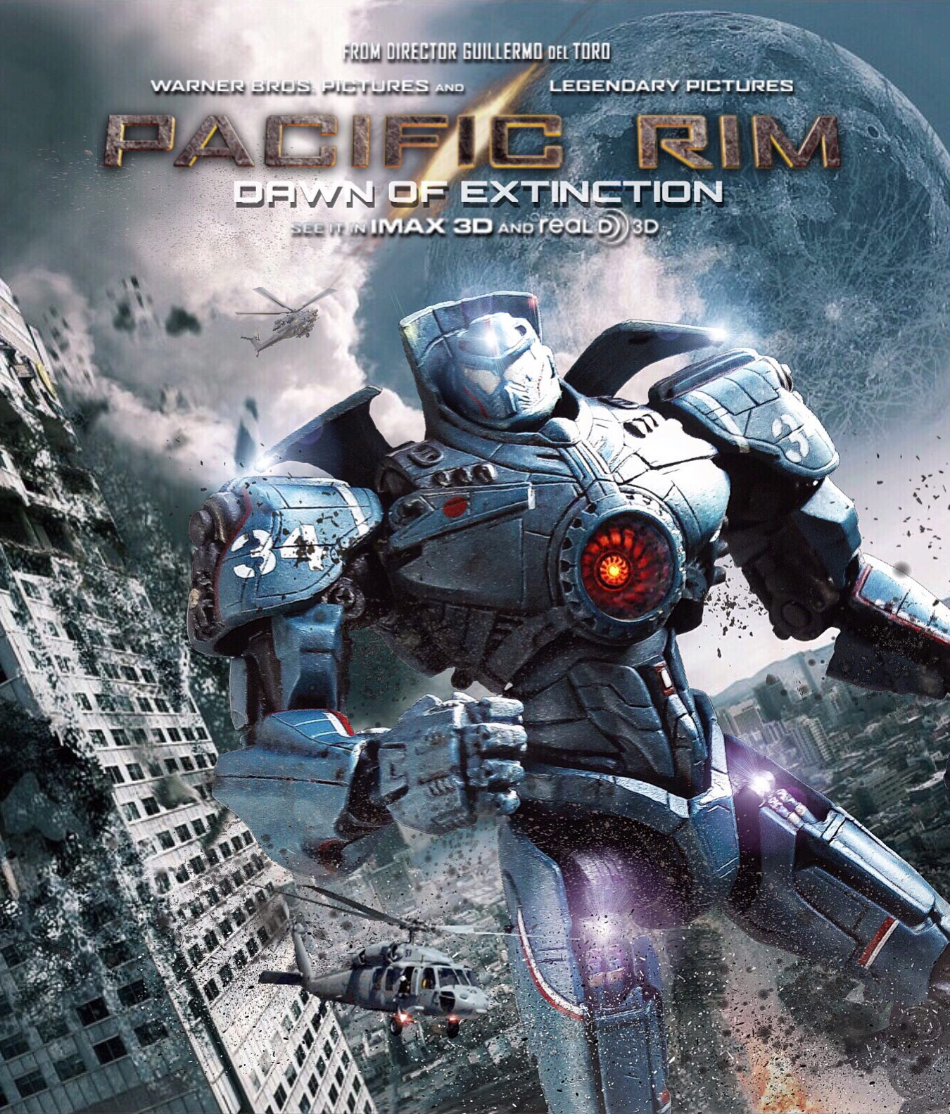 PACIFIC RIM DAWN OF EXTINCTION MOVIE POSTER. 7 Inch NECA ... Pacific Rim Gipsy Danger Poster