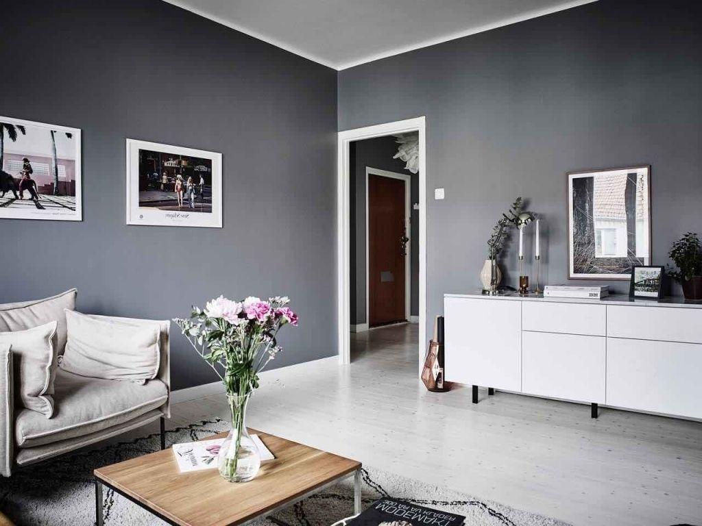 GroBartig Wohnzimmer Weiß Grau