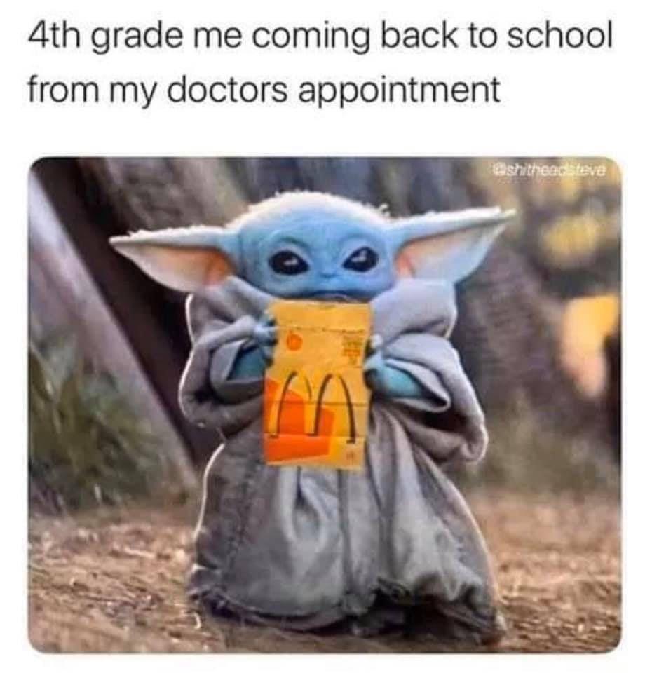 Baby Yoda Doctor 4th Grade Macdonalds Yoda Meme Yoda Wallpaper Star Wars Memes