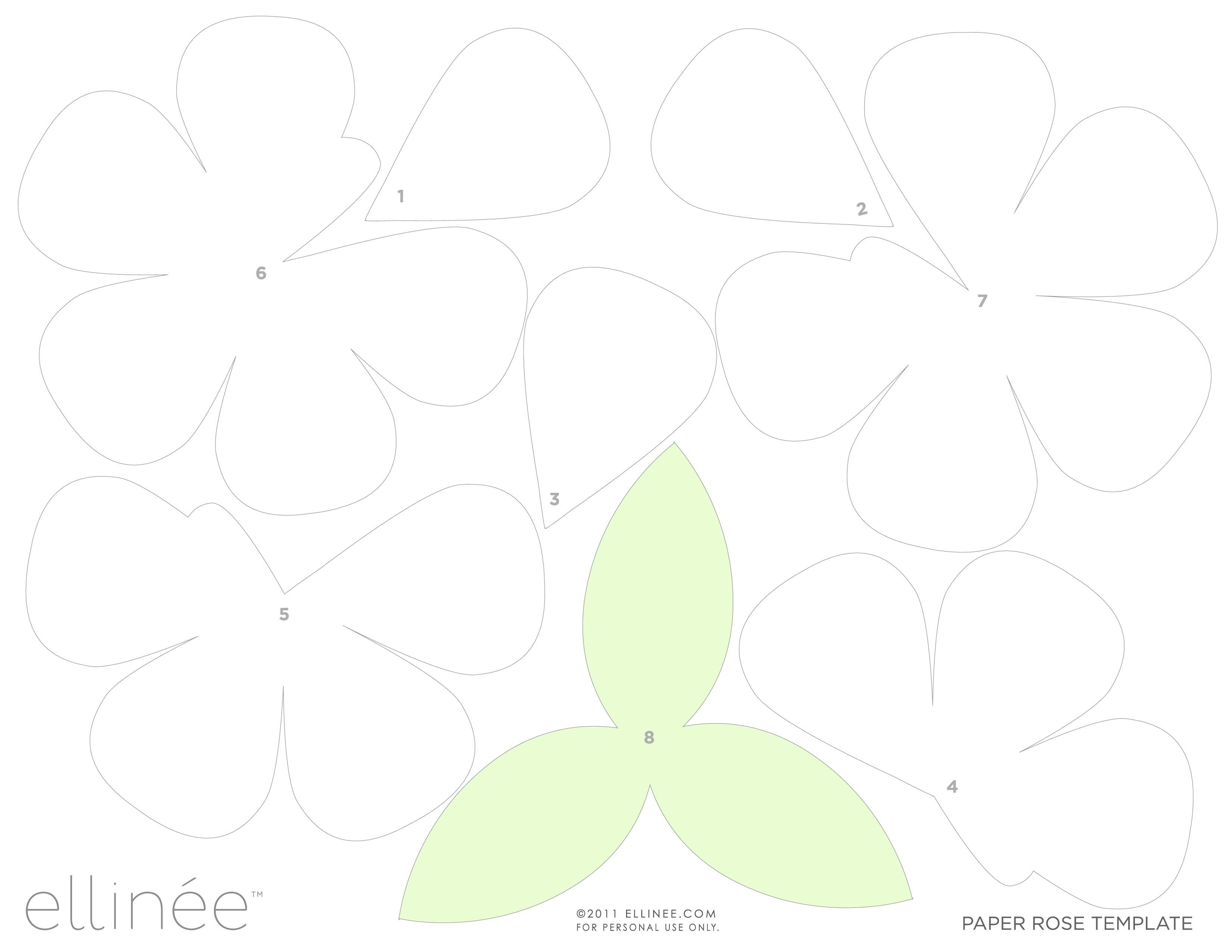 Paper rose template martha stewart the for Paper flower templates martha stewart