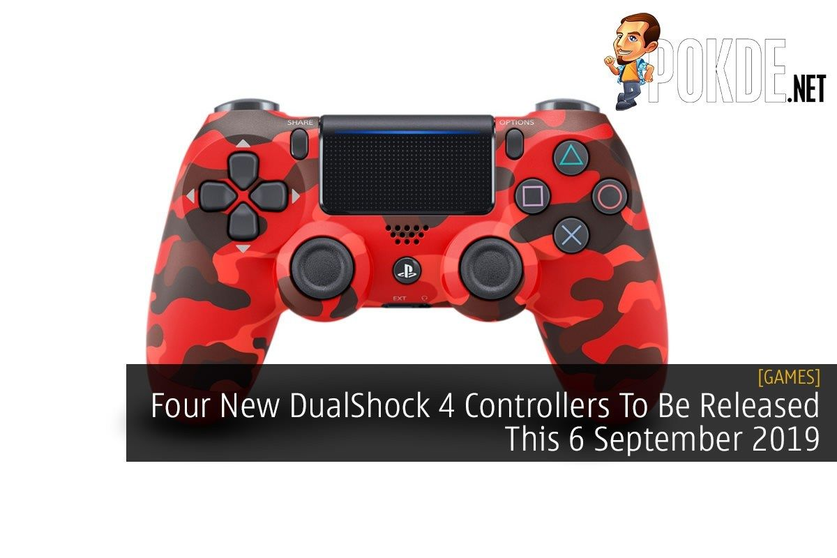 Four new dualshock 4 controllers to be released this 6
