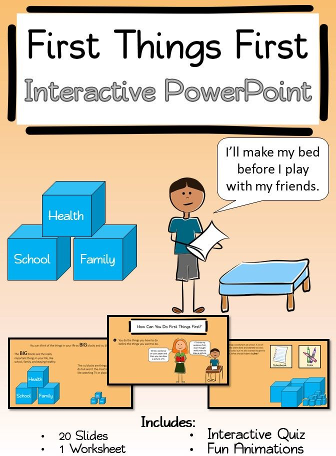First Things First Interactive Powerpoint And Worksheet Goes Along Great With Habit 3 Of Stephen Covey S 7 Habits Interactive Powerpoint Leader In Me 7 Habits