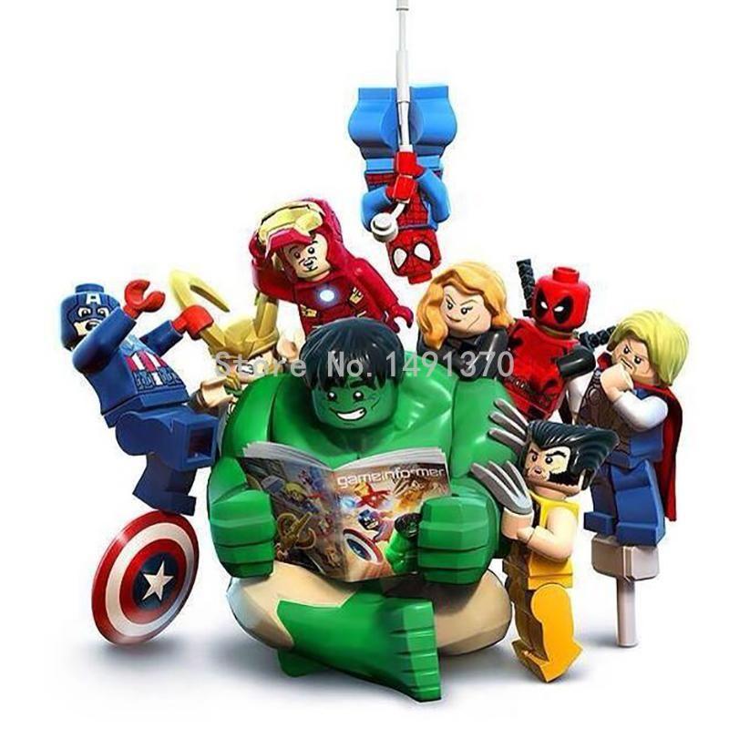 Marvel Super Heroes De Avengers Hulk Lepin Bouwsteen Sets Model Bricks Nieuwe Jaar Speelgoed Voor Kinderen XINH 002