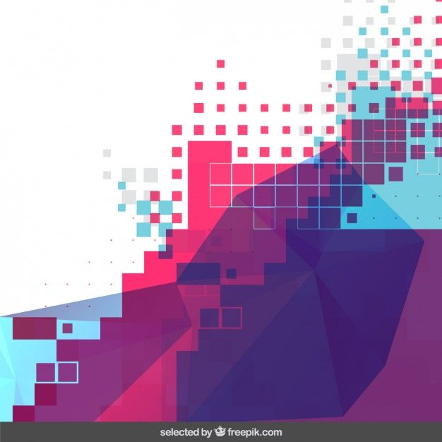 Colorful pixelated background Free Vector | Vectors Collection
