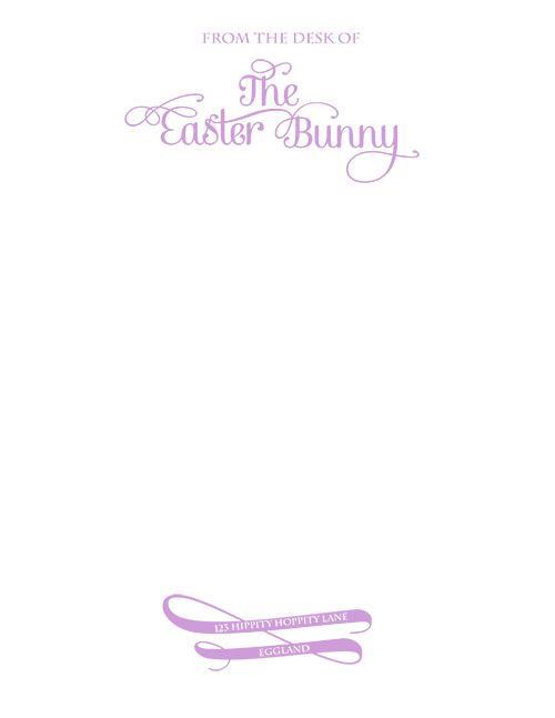 Freebies the sassy blog stationary pinterest for Letter to easter bunny template