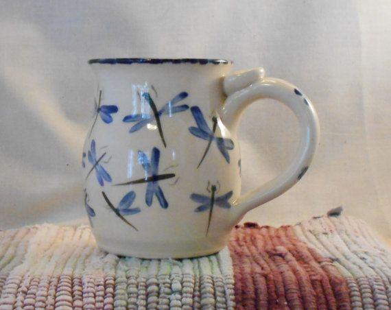 Ceramic Cup 10 Oz Pottery Coffee Mug Handmade Blue