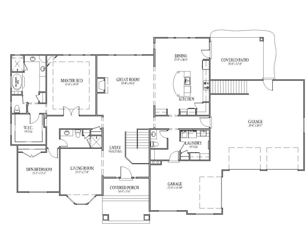 rambler house plans | The McMillan Floor Plan – Signature ... on colonial house plans with garage, ranch house plans with garage, split entry house plans with garage, split level house plans with garage,