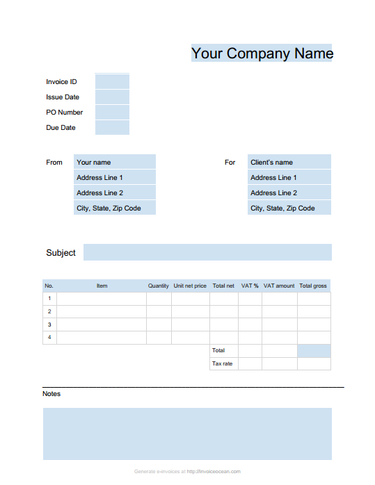 Free Invoice Template Google Why Is Free Invoice Template ...