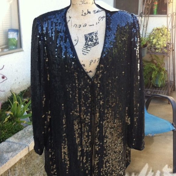 More pictures. Party top second post Final 30 dls Evening party sparkling cardigan lawrence kazar Tops