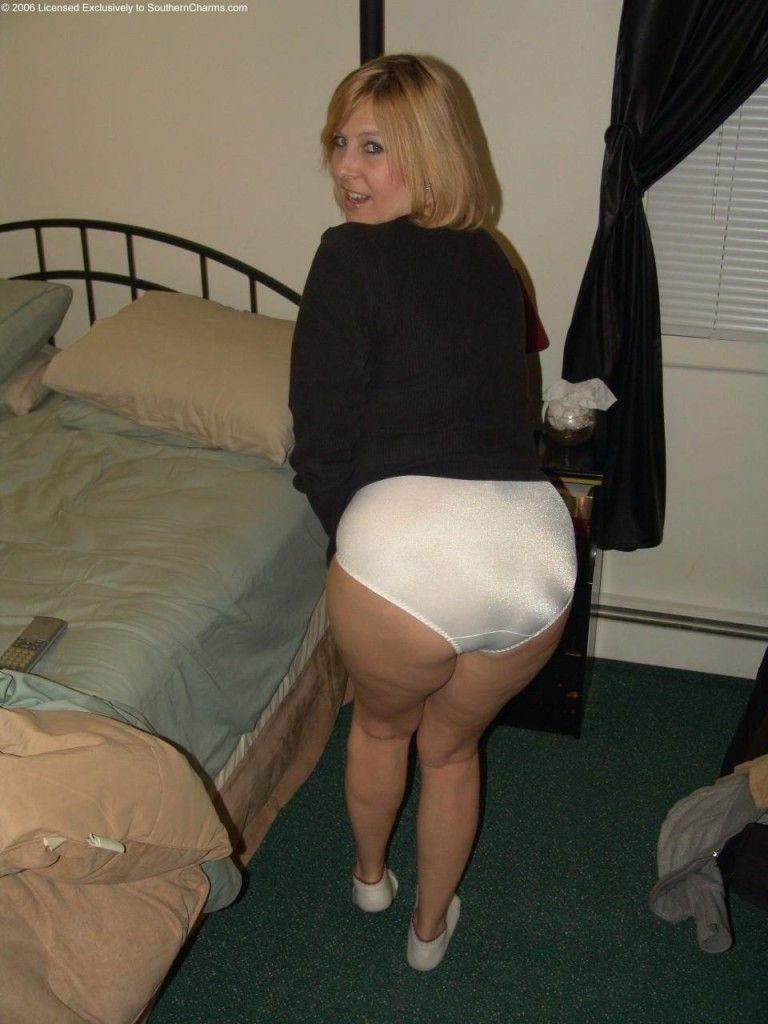 Photos of ladies in white nylon panties