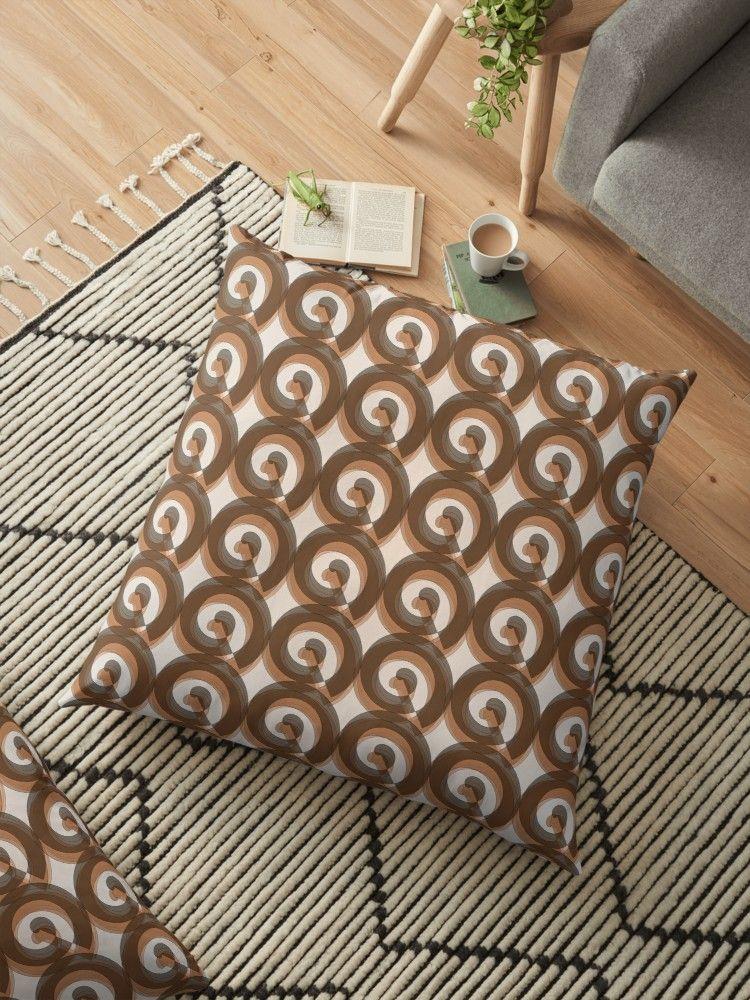 Funny Ringlets 70s Floor Pillow By Rhnaturestyles Kissen
