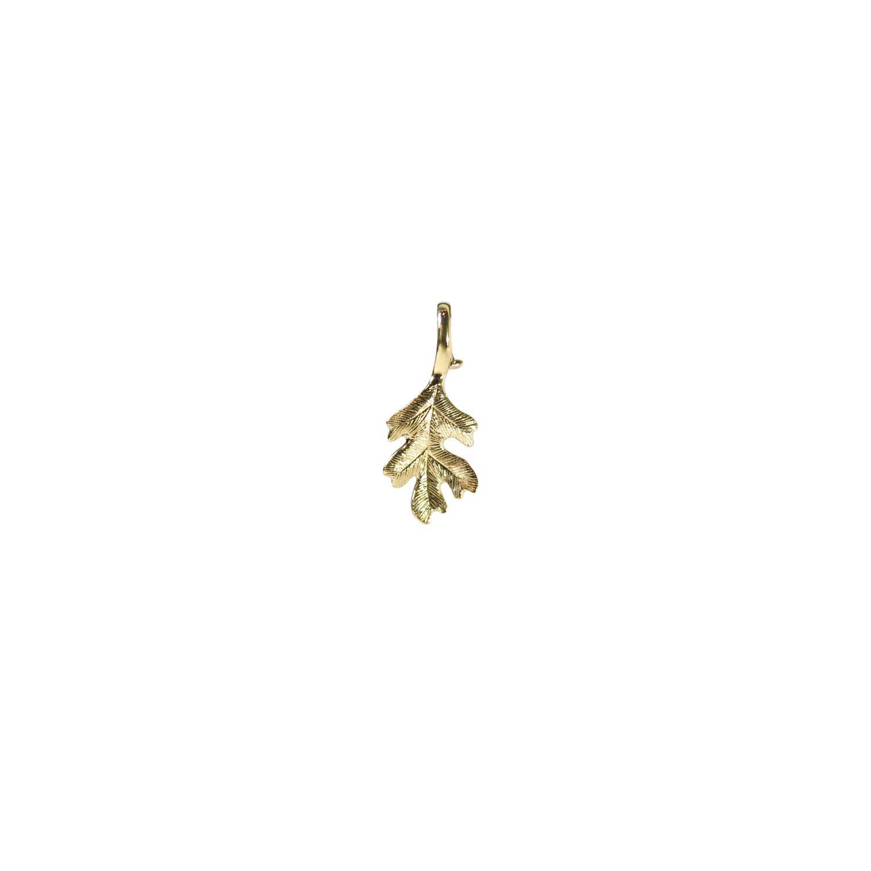 Ole lynggaard copenhagen 18k small oak leaf pendant