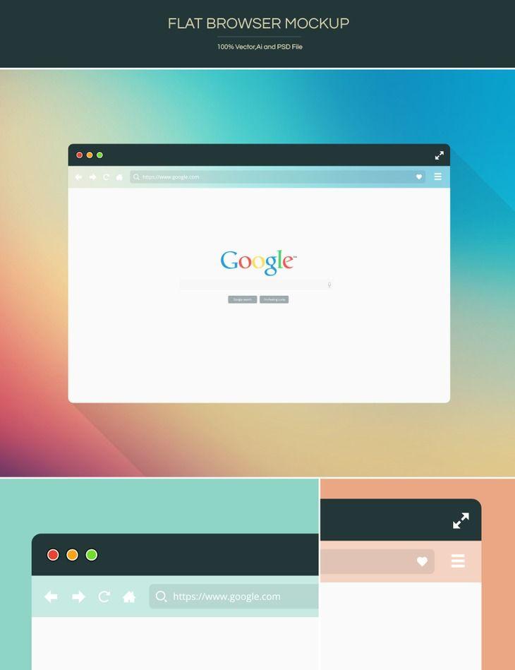 Free Flat Browser Mockup Preview Web Design Mockup Mockup Psd Browser
