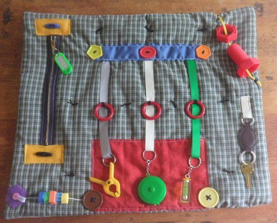 Fidget Quilt Sensory Tactile Blanket Memory By Thefairyfeltmother