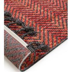 Photo of benuta Kurzflor Teppich Laila Rot 190×290 cm – Moderner Teppich für Wohnzimmer benuta