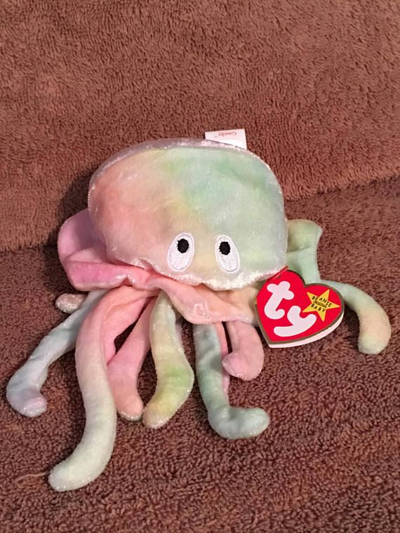 65f780fe7e5 TY Beanie Baby GOOCHY the Jellyfish Pristine with Mint