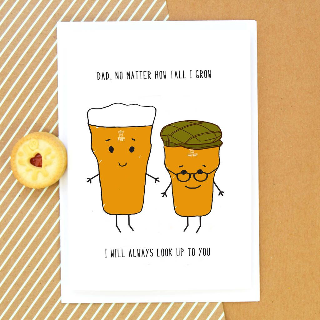 Funny beer fathers day card dad birthday card happy