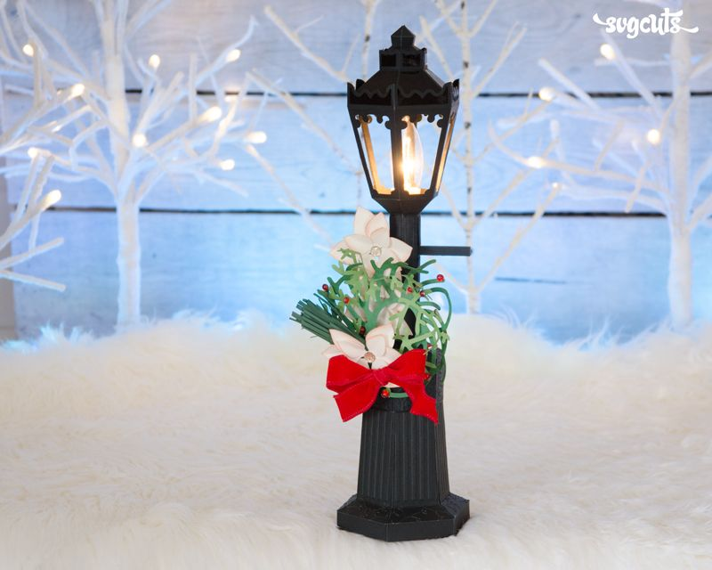 Diy Paper Lamp Post From The New Christmas Eve Svg Kit Christmas Paper Crafts Christmas Lamp Post Christmas Svg Files