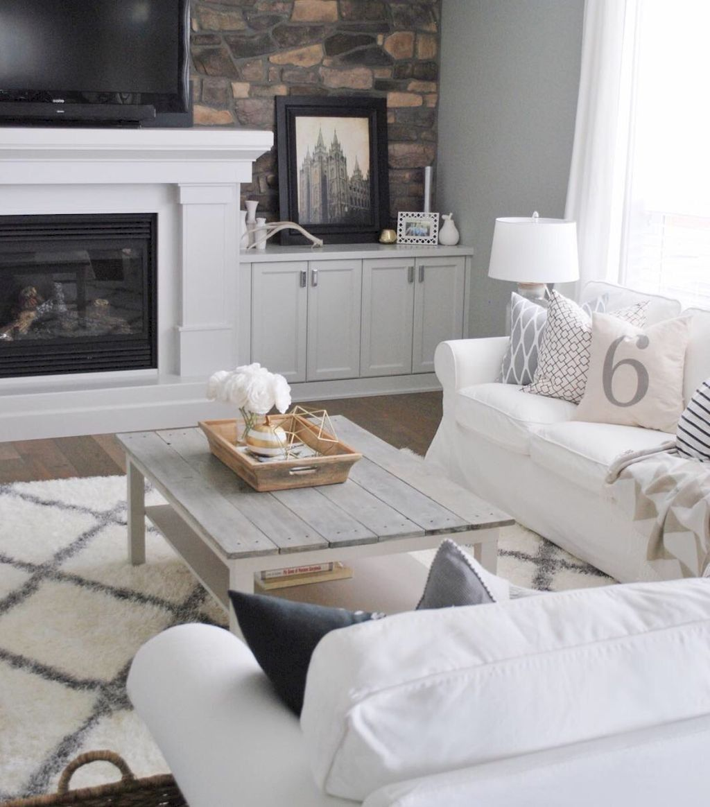 89 Amazing Farmhouse Coffee Table Ideas Page 15 Of 90 Ikea Lack Coffee Table Ikea Lack Table White Living Room Tables [ 1164 x 1024 Pixel ]