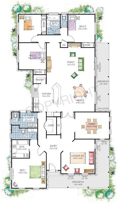 Windsor Steel Frame Kit Home Nsw Qld Vic Australia Dream House Plans House Blueprints House Layouts