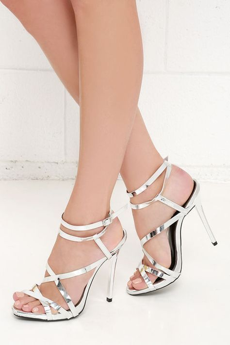 Let S Groove Tonight Silver Dress Sandals At Lulus Wedding Shoes Pinterest And