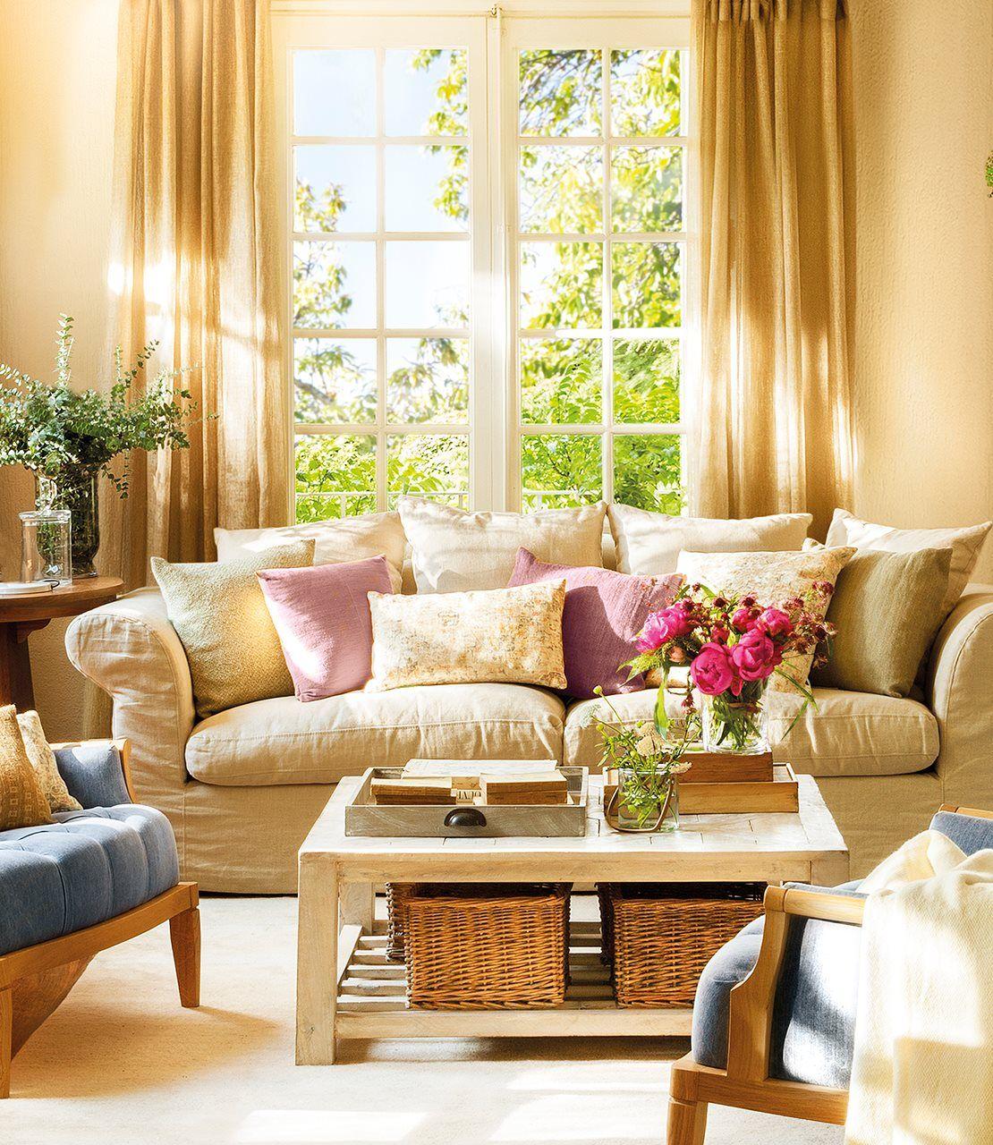 15 Mesas De Centro Que Ayudan A Organizar El Salón · Elmueble Fascinating Interior Design Living Room Colors Design Ideas