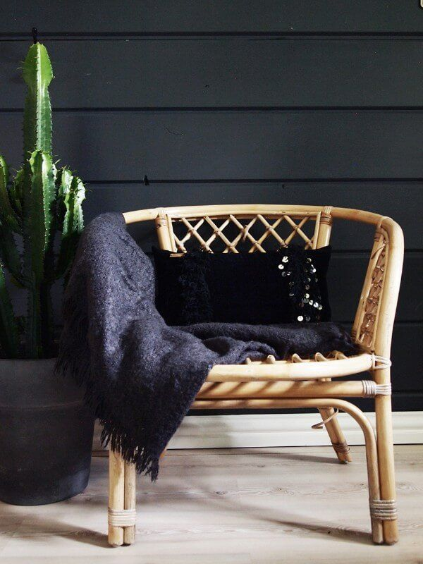 Feeling Moody...Lush black Handira-pillow