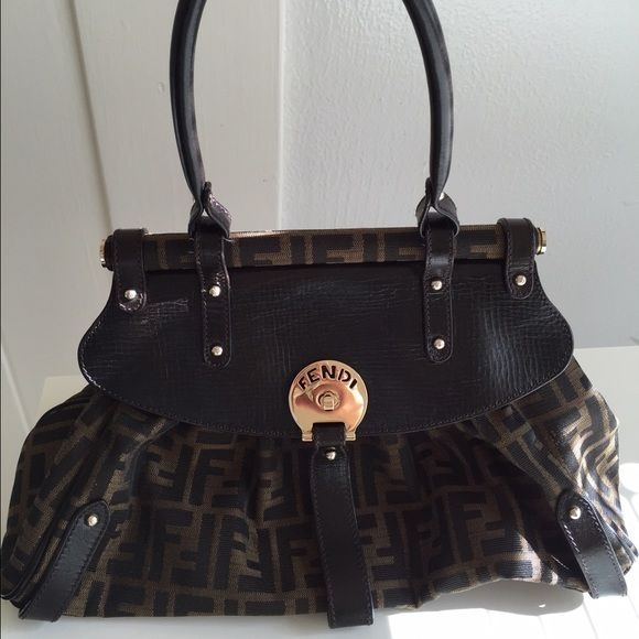 22481d3f237f Fendi zucca Large magic handbag Only used few times. Comes with authenticity  card and a