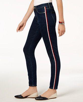 Ninguna olvidar uno  Tommy Hilfiger Side-Stripe Skinny Jeans & Reviews - Jeans - Women - Macy's    Skinny jeans, Women jeans, Tommy hilfiger