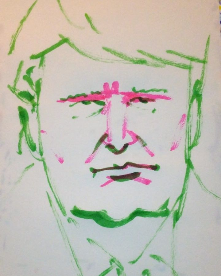 1mindrawさんはInstagramを利用しています:「#1mindraw #donaldtrump #ドナルドトランプ #19460614 #birthday #誕生日 #portrait #筆ペン画」