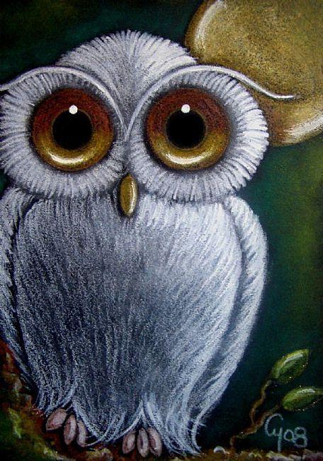 WHITE FANTASY BABY OWL 1