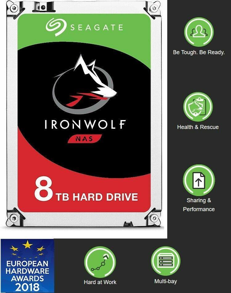 "Seagate IronWolf 3.5"" 8TB 256M 6Gb/s Internal Desktop HDD"