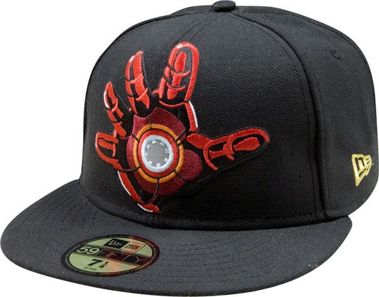 8724a5681 Iron man propulsion hand blast New Era fitted hat | Sick Fitted Hats ...