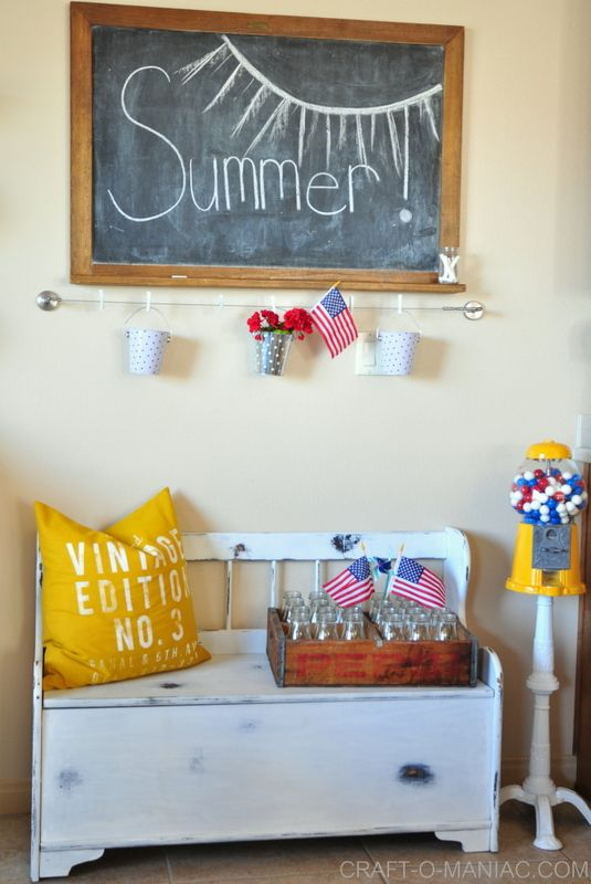 Summer Patriotic Kitchen Decor Use Canvas Home Basics Small Clothespins To Hang Buckets Photos