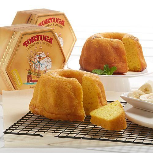 Tortuga 16 Oz. Banana Rum Cake And 16 Oz. Golden Rum Cake