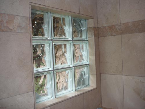 Glass Block Window In Shower I Dont Like The Tile Just Around It