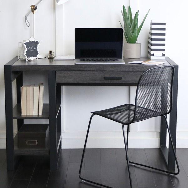 48 Inch Charcoal Computer Tech Desk Area Pinterest