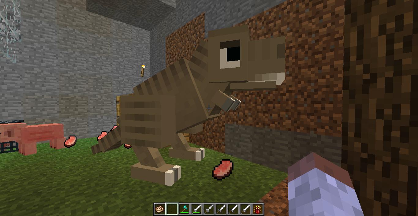 Papercraft T-Rex (Fossils and Archeology) | minecraft