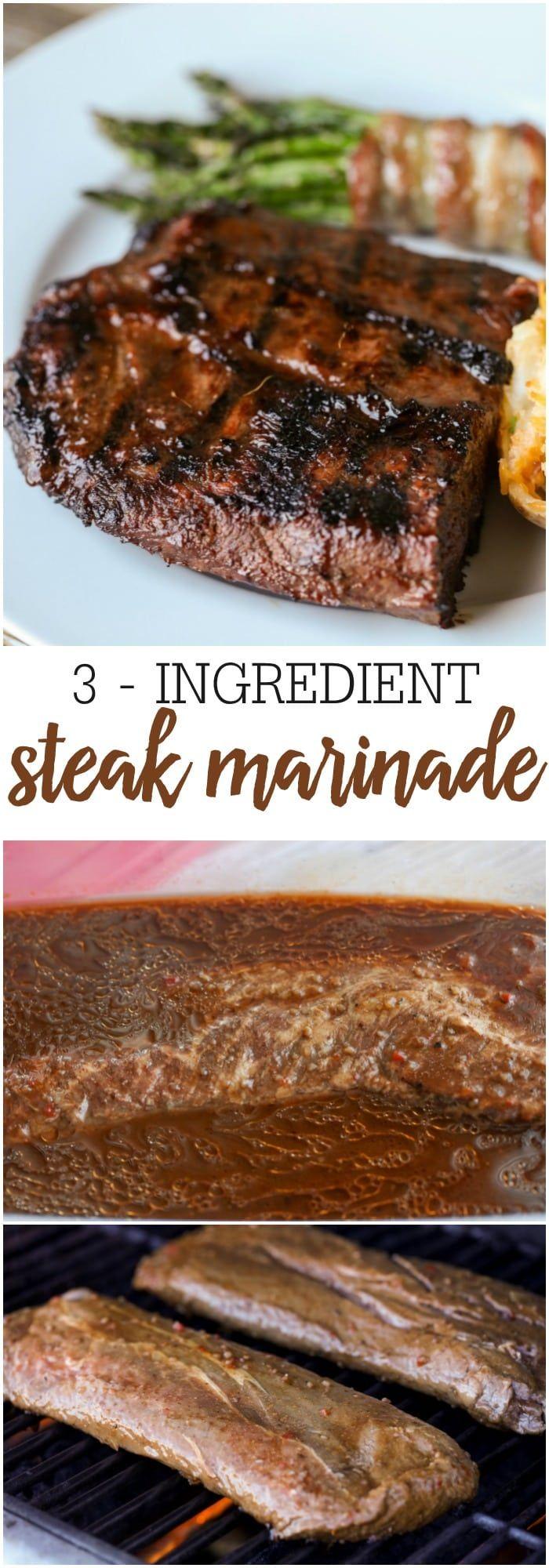 Easy 3-Ingredient Steak Marinade Recipe | Lil' Luna